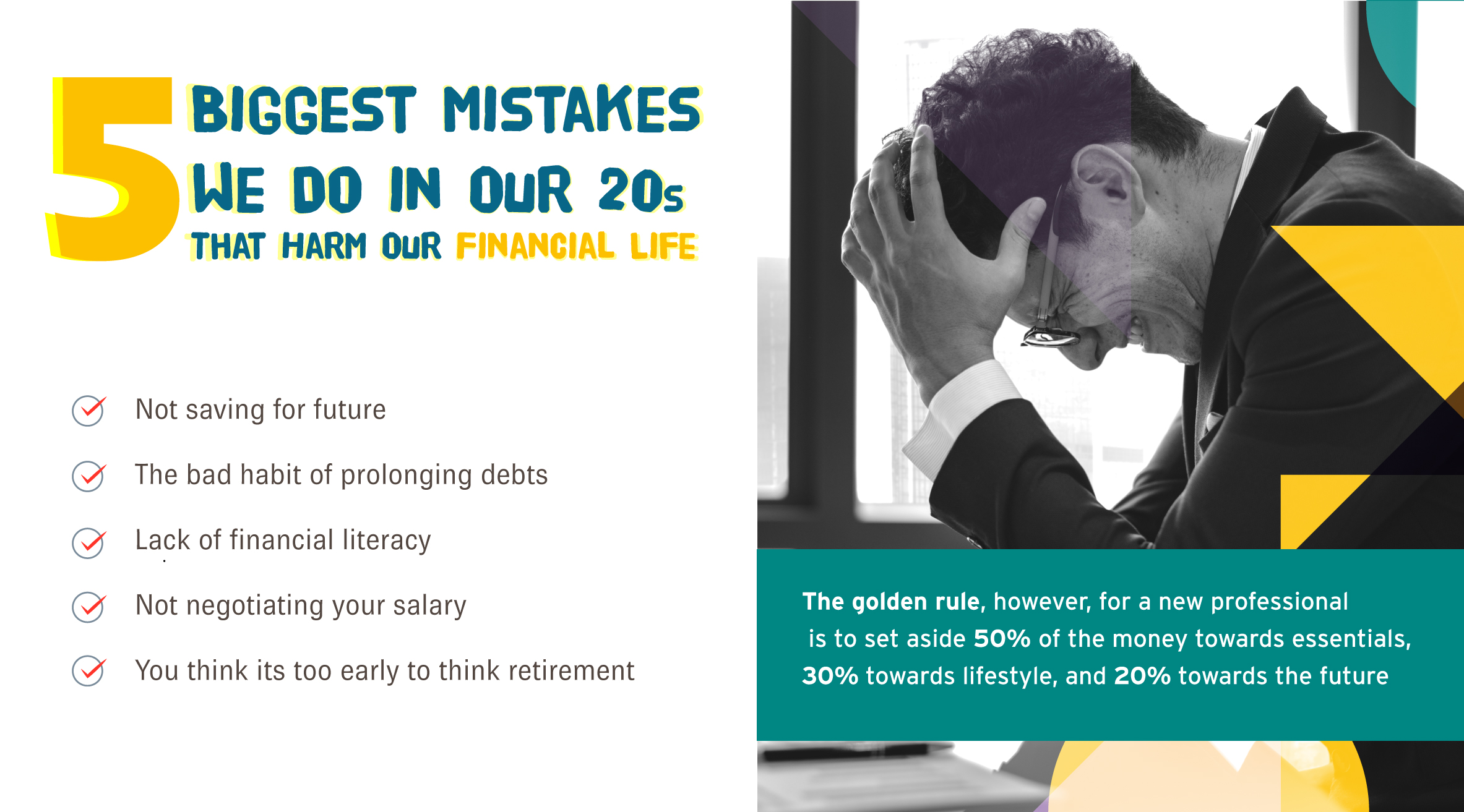 Five Biggest Mistakes We Do in Our 20s That Harm Our Financial Life