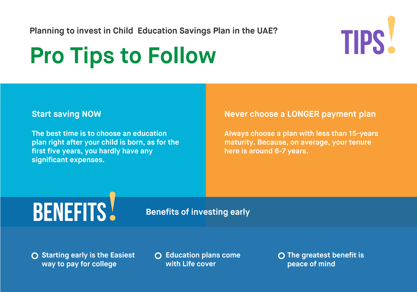 pro tips for child education plan